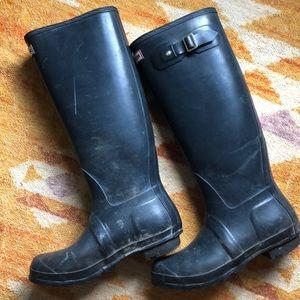Dark blue Hunter Rainboots